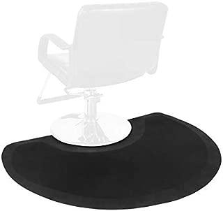 Barber Shop Chair Mat Anti-Fatigue Floor Mat 4′x3′ Salon Floor Mat - Black Semi Circle Salon Mat - 1/2