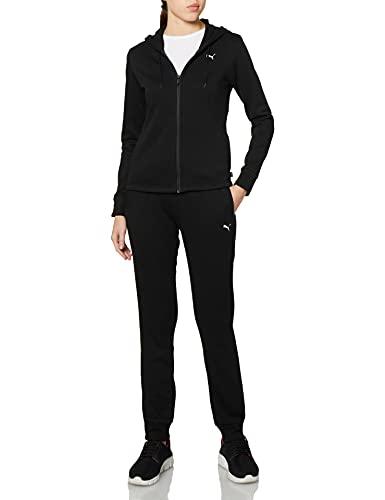Puma 4063699228441 Classic Hooded Sweat Suit FL Tuta Sportiva, Puma Black, L