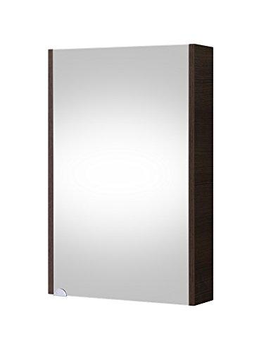 Planetmöbel Badezimmer Spiegelschrank Badspiegel Gäste WC 50cm (Anthrazit)