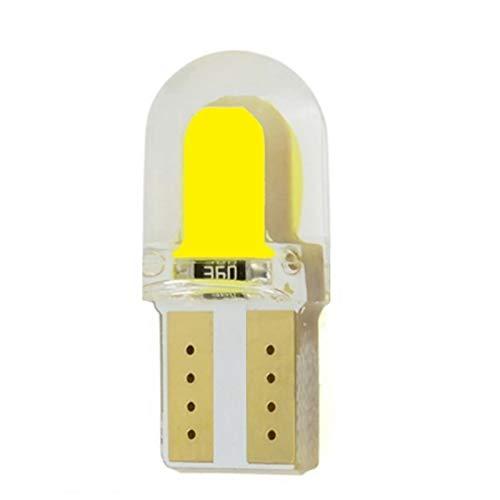 MXQ CJXIN 1 unids T10 W5W WY5W 501 168 2825 Gel de sílice COB LED Bulbos Cáscara de Silicona Auto Cuña Auto Cuña Gire Lámparas Laterales Marcador de Autos Luz (Emitting Color : Yellow)