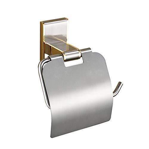 LINA Porte-Papier hygiénique, Base en cuivre, Porte-Savon pour hôtel, Porte-Rouleau de Salle de Bain, Or 24K brossé Nickel