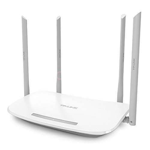 SSCJ AC1200 Dual Band 2,4 GHz 300 Mbps+5 GHz 867 Mbps Draadloze Router met 4 Externe High Gain Antenne voor Home Office internet Router Gaming Xbox