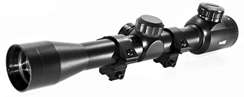 TRINITY Tactical Hunting 4x32 Scope for Ruger Blackhawk Air Rifle Dovetail Rail Mount Adapter Rings mildot Reticle Black Aluminum