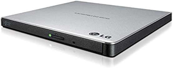 LG Electronics 8X USB 2.0 Super Multi Ultra Slim Portable DVD+/-RW External Drive with M-DISC Support, Retail (Silver) GP6...