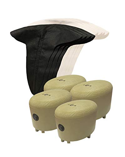 MOJO Outdoors Mini Flags Motion Decoys (Pack of 4) - Goose Decoys, Duck Decoys - Available in Canada Goose, Snow Goose, Multi (HW2496)