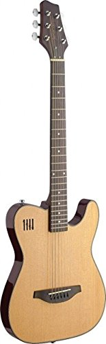 Cheap James Neligan EW3000CN Solid Body Folk Electric Guitar with Cutaway Natural Black Friday & Cyber Monday 2019