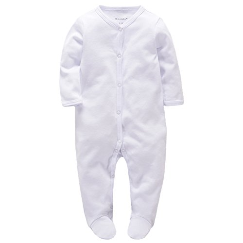Baby's Romper Organic Winter Clothes Cotton Sleep n Play Footie Long Sleeve (0-3M)