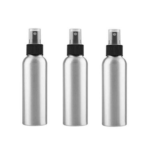 Lot de 3 flacons vaporisateurs d'huiles essentielles en aluminium rechargeables pour parfums et brume fine, vaporisateurs vides en métal pour cosmétiques - 120 ml