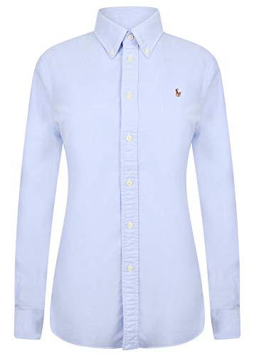 Ralph Lauren Damen Bluse/Hemd - Baumwoll-Hemd (Hellblau, XL)