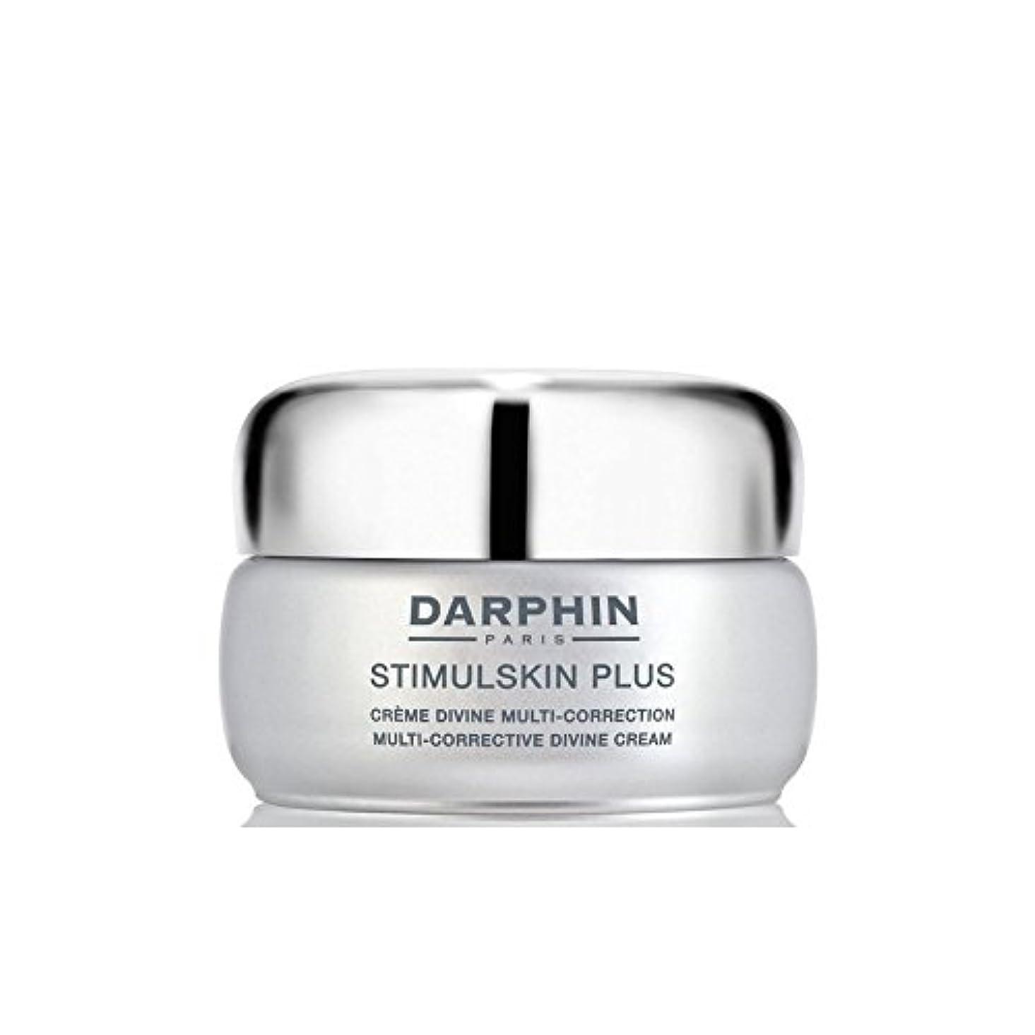 環境に優しい均等にステープルダルファンスティプラスマルチ是正神のクリーム x4 - Darphin Stimulskin Plus Multi-Corrective Divine Cream (Pack of 4) [並行輸入品]