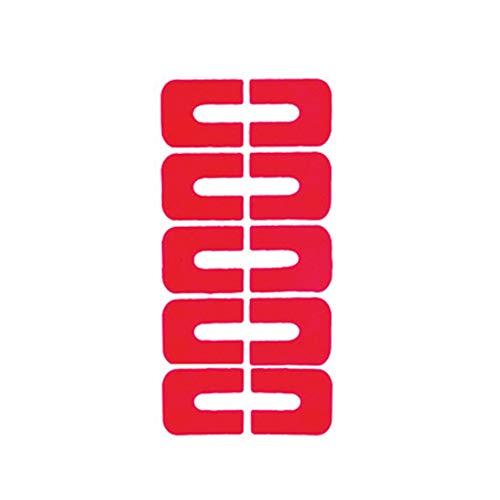 Kentop 1 Paquet de 5 pièces Autocollants de Ongles Autocollants de prévention de déversements Protecteur manucure