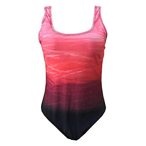 Sweetneed chida yi Bañadores de Mujer Traje de una Pieza con Relleno Bañador Push up Ropa de Baño Cintura Alta Size Gradiente de Color Cruz Atrás Slim Fit Cuerpo Atractivo Bañera Bikini…