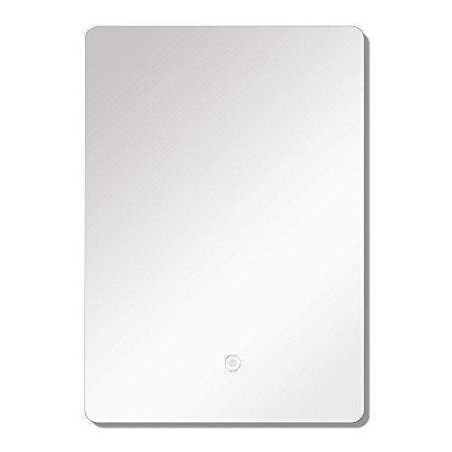 Transolid TLMS2024 Skylar Vertical Wall-Mount LED Mirror, 19.69-in W x 23.62-in H x 1.18-in D, Silver
