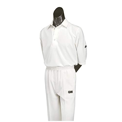 Gunn & Moore Maestro Pantalon de Cricket Unisexe-Adolescents, Blanc, m