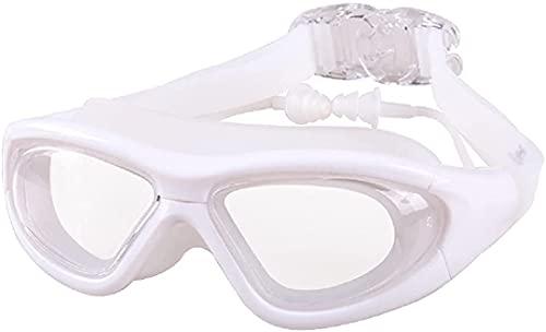 Vue large natation lunettes de natation, lunettes de bain des bouchons d'oreille attachés pour hommes adultes femmes et enfants, anti-buée, UV Protection - Étui de rangement gratuit Eau ouverte // Ind