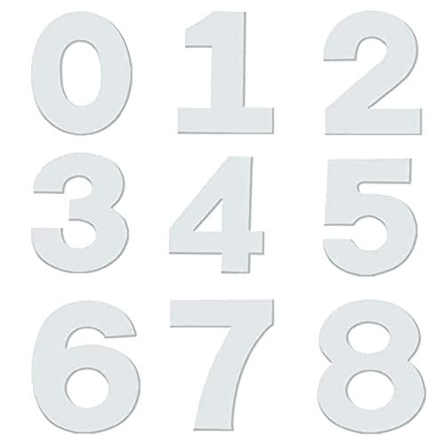HONGECB Molde Numeros para Tarta,9PCS Molde Grande para Tartas, Number Cake Mould 0-9, Molde Grande para Tartas con Números, Número Molde Blanco Molde para Cumpleaños Aniversarios Fiestas