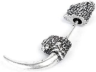 قطعة واحدة الأقراط القوطية مسمار للرجال الفضة لا تسبب الحساسية الأذن مسمار