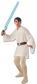Rubie s mens Star Wars Adult Luke Skywalker Costume White Standard US