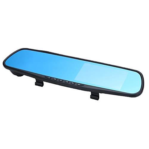 Grato per tutto Specchio di Rearview DVR 4.3' HD Display di Guida Video Recorder Cam (Color : A)