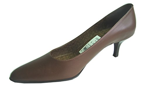 COACH Pump Shoes Heels Dark Navy Blue, Coffe Brown Leather Size 8m, 8.5M 6m,6.5m (6M, Brown)
