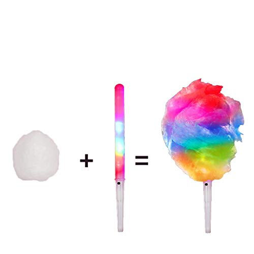 FSTDelivery Cotton Candy Floss Maker, Cotton Candy Machine JK-1801 Cotton Candy Maker Fashion Mini Cotton Candy Machine Stainless Steel Bottom Groove, Ceramic Heating Tube 30x30x28cm