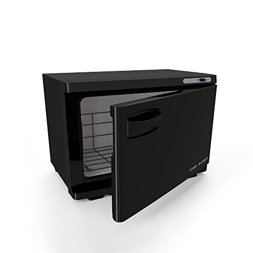 Medium Black Professional Spa Hot Towel Cabinet and Household or Personal Towel Warmer.