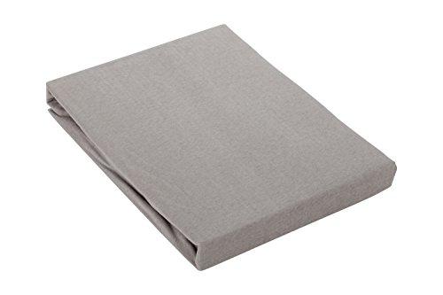 Zané Secrets Comfort Topper-Spannbettlaken Spannbetttuch 100% Baumwolle 180x200 cm bis 200x200 cm bis 16cm Topperhöhe (Dunkel-grau)