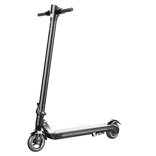 Monopatin Electrico, plegable E-Scooter, 15.5MPH y 31 millas de alcance, aleación de aluminio para adultos Scooter eléctrico, de 6 pulgadas llantas sólidas, 350W del motor, para conmutar y Viajes