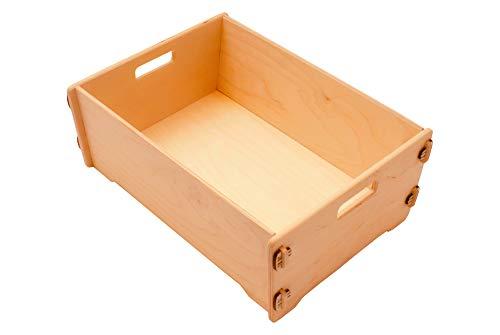 Aufbewahrungskiste Holz, Holzkiste, 40 x 29 x 15 cm