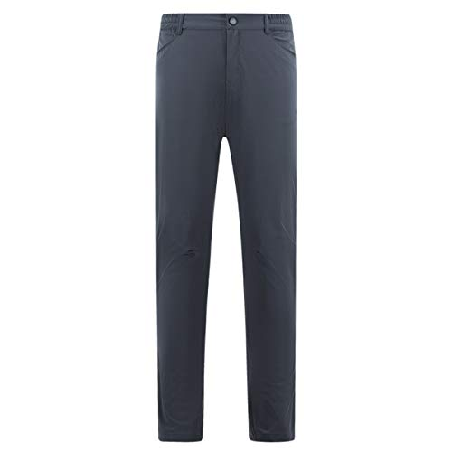 Lanmay Men's Golf Pants Outdoor Quick Dry Pants Elastic Waist Lightweight Travel Cargo Work Pants with Pockets Large Gray
