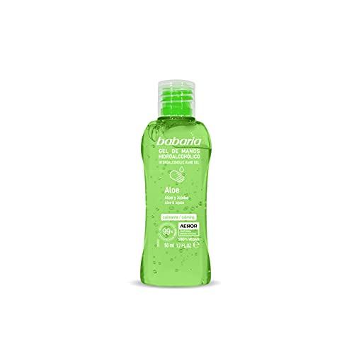 BABARIA - Gel de manos hidroalcohólico Aloe, 50 ml