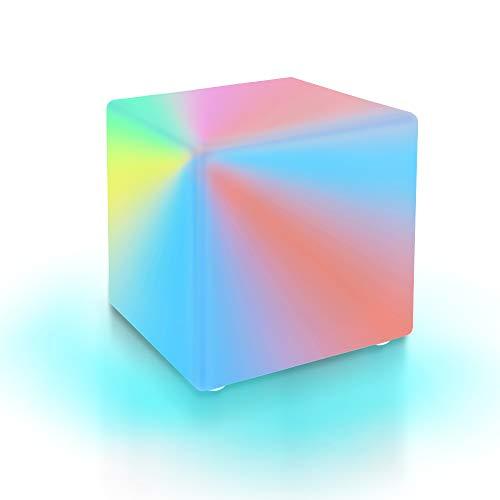 LED Cube Lampe, SZSMD Gartenlampe mit LED-Beleuchtung in 16 Farben, 4 Licht-Modi, Beistelltisch Würfelleuchte mit Fernbedienung für Kinder, Haus, Garten, Partydekor