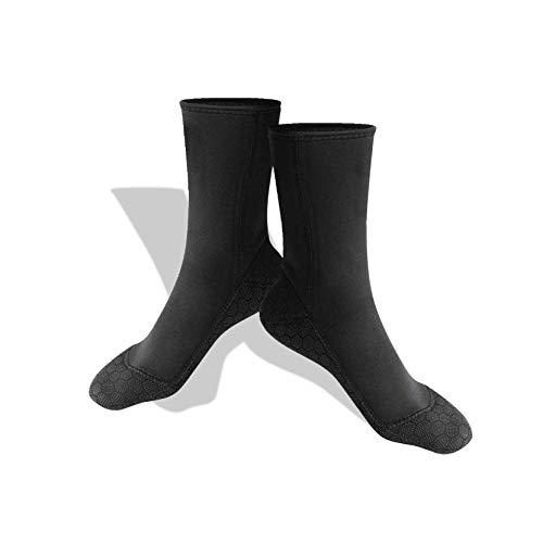 Calcetines de neopreno de buceo, respetuosos con la piel, anti-infiltración, transpirables, botines de aleta antideslizantes, botines de surf Calcetín de playa, para deportes acuáticos(Large)