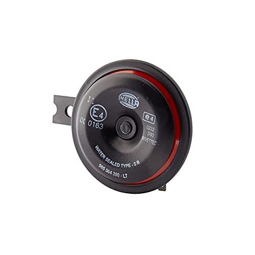 HELLA 3AL 922 000-951 Bocina - S90 - 12V - 113dB (A) - Rango de frecuencia: 350Hz - sonido grave - Color de carcasa: rojo/negro - Conexión de enchufe plano