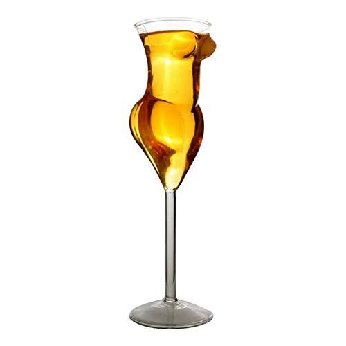 Goodvk Copa de Vino Tinto Copa de Vino de Copa de Vino de 200 ml Adecuado para Gafas de Bar y Club. Decoración Elegante (Color : Clear, Size : 23.5x6.5cm)