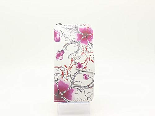 GUPi iPhone 6 Plus - Carcasa para iPhone 6S Plus (2 en 1), diseño de flores, color morado