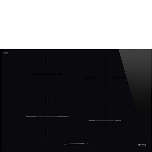 Smeg piano cottura induzione SI4742D Opzione Limitatore di Potenza 70cm - Incasso standard 56x48 cm - nero regolazione comandi touch slide