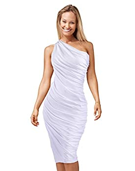 Best white one shoulder dress Reviews