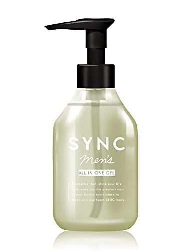 化粧水 メンズ オールインワン 1本で完了 けしょうすい 美容液 乳液 アフターシェーブローション オールインワンジェル 敏感肌 オイリー肌 エイジングケア さっぱり 保湿 で テカリ を抑える SYNC men 's シンク メンズ 150ml オールインワンジェル