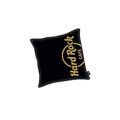 Herding HARD ROCK Dekokissen, Original Hard Rock Café Lizenz, Mit Golddruck, 40 x 40 cm, Schwarz/Gold