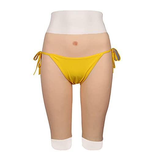 CPL Crossdresser Bragas de Silicona Pantalones Nalgas Artificiales pantalón Mejorador de Pantalones con Vagina Falsa para transgénero Ladyboy Cosplay (Pantalones de 5 Puntos),Color3