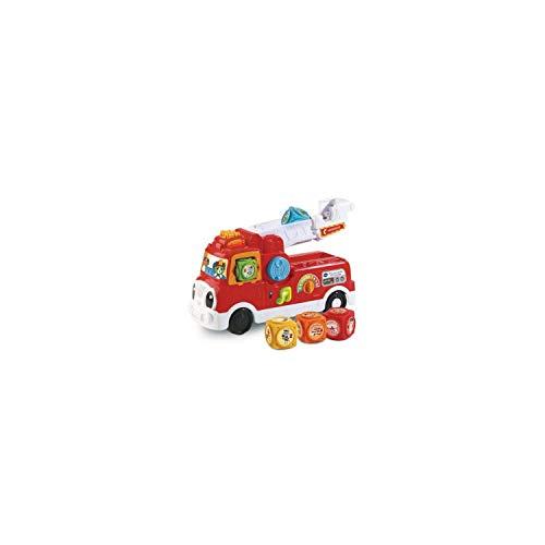 VTech - ABC, mon camion SOS pompiers - camion interactif enfant - camion de pompier rouge – Version FR