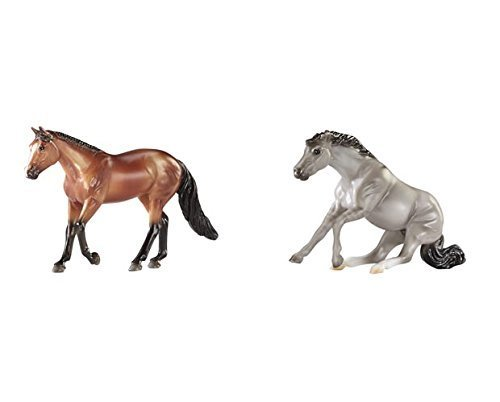 Breyer Stablemates Mystery Foal Surprise (Bay Quarter Horse and Grullo Quarter Horse)