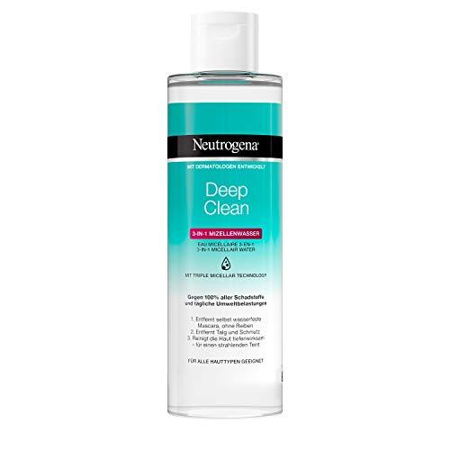 Neutrogena Deep Clean 3-in-1 Mizellenwasser, Sanfte Gesichtsreinigung mit 3-fach-Effekt, Make-Up Entferner, 400 ml