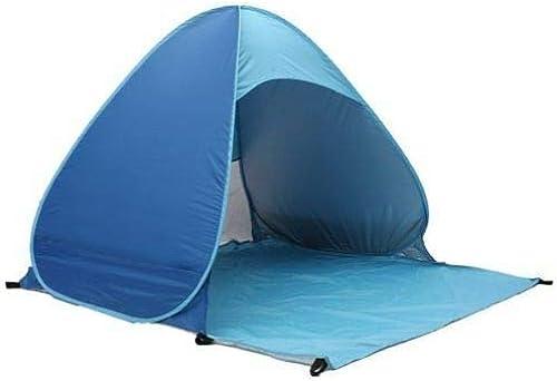 Qwert Tente De Plage Anti-UV Portative pour 2 Personnes, Store Pliant Auvent Bleu