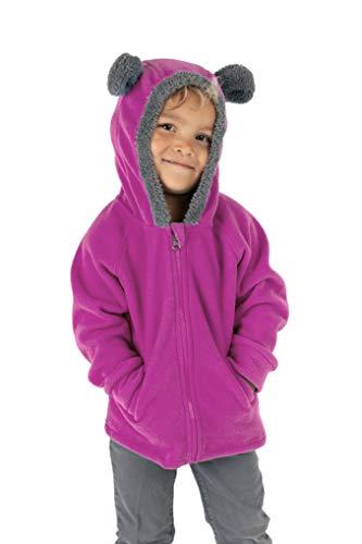Cuddle Club Chaqueta Polar niño/niña Ropa Bebé y Niño de 0 a 5 años – Abrigo/Disfraz Bebé para Exterior con Cremallera y Capucha – BearFleeceJacketPurple5T