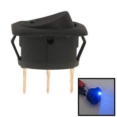 GUPENG Interruptores de botón eléctricos para automóviles Interruptor Coche de la luz Azul del Eje de balancín de Control ON-Off, 12 V / 25 A (10 Piezas) (Color : Color1)