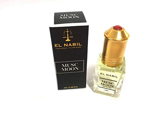 EL NABIL 5 ml Musk MOON 100% olie NOTEN: Essentie van Bigarade, Rose, Tonka Bean, Vanilla Accord