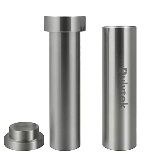 Dulytek Hammer Style Pollen/Herb Press - Cylinder Food-Grade Stainless Steel - Large Size - 4.5' Height, 22mm Inner Diameter