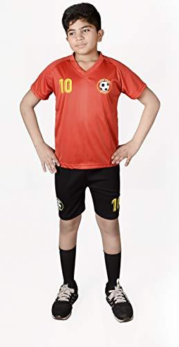 A&H Fashion Jungen-Fußball-Set, Sportbekleidung, Motiv: Liver Pool 10, T-Shirt, Shorts, Jungen, Red Liver Pool, 24(8-9 Years)